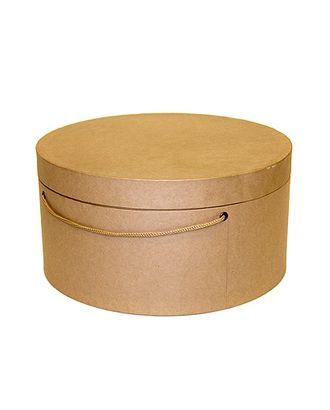 Коробка для цветов 211/000 круглая- крафт натуральный (d30х15см) арт. МГ-56504-1-МГ0663810
