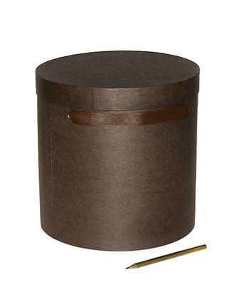 Коробка для цветов 212/015 круглая- крафт шоколад (d24х24см) арт. МГ-56511-1-МГ0663817