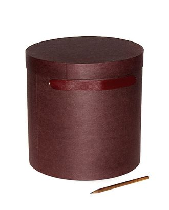 Коробка для цветов 212/025 круглая- крафт шато бордо (d24х24см) арт. МГ-56515-1-МГ0663821