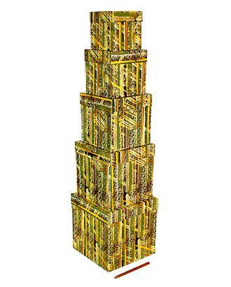 Кор.к наб. из 5 кубов мал. - сквозь призму времени (9x9x9см-17x17x17см) арт. МГ-56559-1-МГ0664280