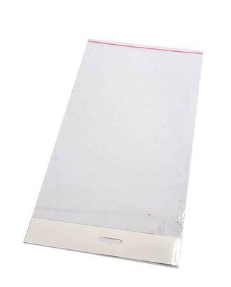 Пакет прозр. без рис. 412/00 со скотчем и белым хедером (12х10см) арт. МГ-56798-1-МГ0664523