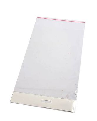 Пакет прозр. без рис. 420/00 со скотчем и белым хедером (20х16см) арт. МГ-56802-1-МГ0664527