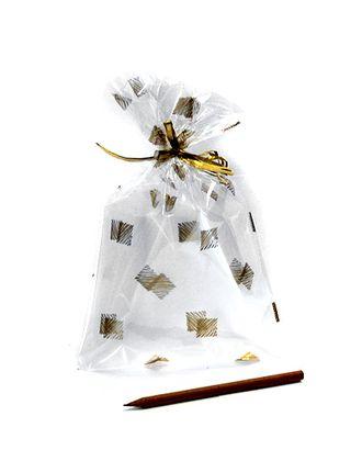 Пакет прозр. с рис. 525/218-11 квадратики золотые (25х15см) арт. МГ-56970-1-МГ0664725