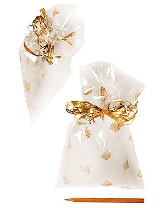 Пакет полупрозр. с рис. 725/218-11 квадратики золотые (25х15см) арт. МГ-56980-1-МГ0664735