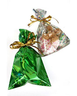 Пакет п/гологр. 25/091-45 парча зеленая (25х15см) арт. МГ-57047-1-МГ0664808