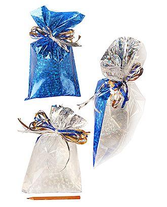 Пакет п/гологр. 25/115-55 звездочки синие (25х15см) арт. МГ-57050-1-МГ0664811