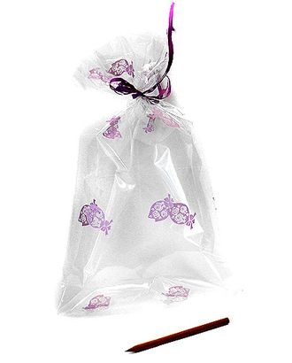 Пакет прозр. с рис. 540/102-20 розовый бутон (40х23см) арт. МГ-57072-1-МГ0664833