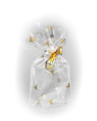 Пакет прозр. с рис. объем. 632/106-11 золотые веточки (32х18х3см) арт. МГ-57085-1-МГ0664846