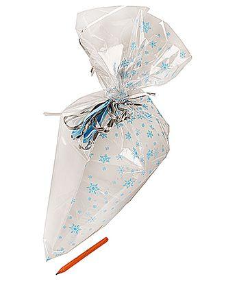 Пакет полупрозр. с рис. 740/X177-40 нов.год снежинки голубые (40х23см) арт. МГ-57088-1-МГ0664849