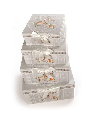 Коробка к наб. из 4 квадратов- нов.год птички (14x14x6-23x23x12см) арт. МГ-58437-1-МГ0667791