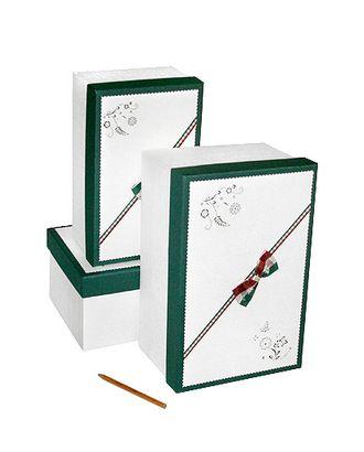 Коробка к элеганс наб. из 3 прямоуг.- крем с зеленым (25х16х11-31х20х15см) арт. МГ-58483-1-МГ0667845