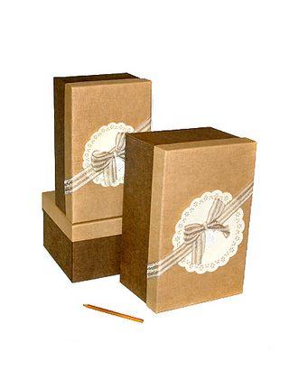 Коробка к элеганс наб. из 3 прямоуг.- шоколад с латте (25х16х11-31х20х15см) арт. МГ-58487-1-МГ0667850