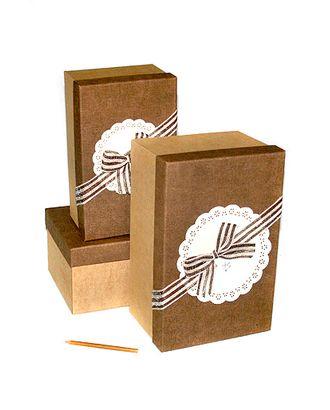 Коробка к элеганс наб. из 3 прямоуг.- латте с шоколадом (25х16х11-31х20х15см) арт. МГ-58489-1-МГ0667852