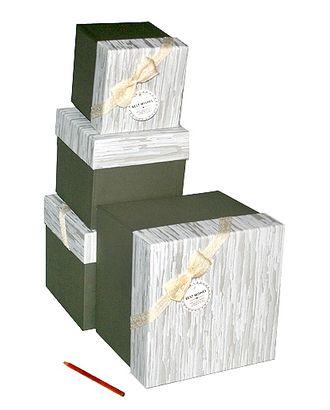 Коробка к элеганс наб. из 4 кубиков- серый (14х14х14-23х23х21см) арт. МГ-58497-1-МГ0667860