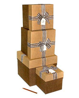 Коробка к элеганс наб. из 4 кубиков- латте с шоколадом (14х14х14-23х23х21см) арт. МГ-58502-1-МГ0667865
