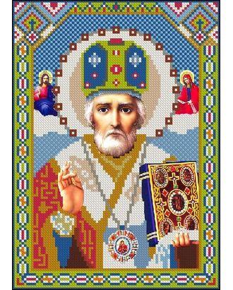 Алмазная мозаика Ah3147 Икона Святого Николая 22х30 ч/в арт. МГ-10136-1-МГ0671540