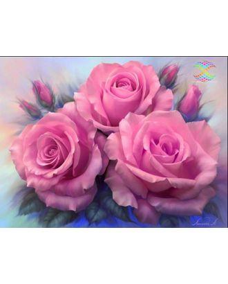 Алмазная мозаика Ah3537 Розовые розы 30х40 арт. МГ-10141-1-МГ0671545