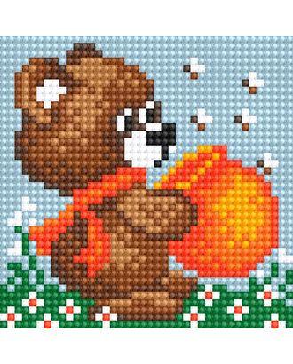 Алмазная мозаика Ah5208 Медвежонок с медом 10х10 арт. МГ-10156-1-МГ0671560