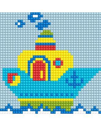 Алмазная мозаика Ah5217 Кораблик 10х10 арт. МГ-10161-1-МГ0671565