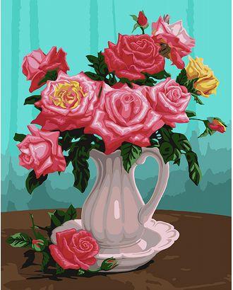 К по номерам на дереве Flamingo ФТ.FLA011 Розы в белой вазе 40х50 см арт. МГ-59794-1-МГ0673765