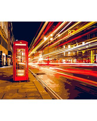 К по номерам на дереве Flamingo ФТ.FLA018 Ночной Лондон 40х50 см арт. МГ-59799-1-МГ0673770