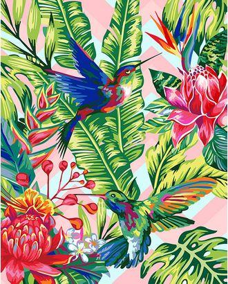 К по номерам на дереве Flamingo ФТ.FLA041 Колибри 40х50 см арт. МГ-59809-1-МГ0673780