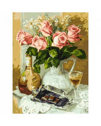 К по номерам Белоснежка Розы и шоколад 40х50 см арт. МГ-60045-1-МГ0676779