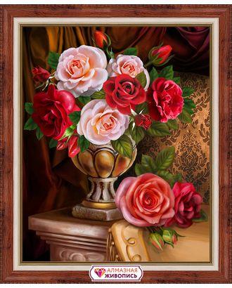 """Набор для изготовления к """"АЛМАЗНАЯ ЖИВОПИСЬ"""" «Благородные розы» 30х40 см арт. МГ-10200-1-МГ0676843"""