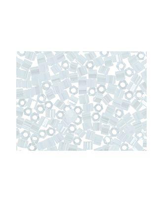 """Бисер Япония """"TOHO"""" 11/0  HEXAGON №3  2.2 мм 5 х 5 г №0141 белый/перл арт. МГ-60148-1-МГ0678193"""