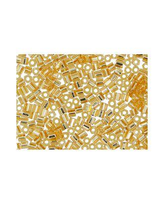 """Бисер Япония """"TOHO"""" 11/0  HEXAGON №3  2.2 мм 5 х 5 г №0022B золотистый арт. МГ-60164-1-МГ0678209"""