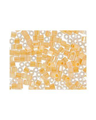 """Бисер Япония """"TOHO"""" 11/0  HEXAGON №3  2.2 мм 5 х 5 г №0904 бл.оранжевый/перл арт. МГ-60174-1-МГ0678219"""