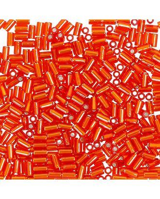 "Бисер Япония ""TOHO"" BUGLE №4  3 мм 5 х 5 г №0025 оранжево-красный арт. МГ-60398-1-МГ0678452"