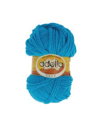 """Пряжа ADELIA """"IVIA"""" (100% акрил) 4х62,5г/150м цв.061 яр.голубой арт. МГ-61597-1-МГ0683489"""
