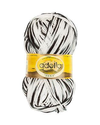 "Пряжа ADELIA ""ZENA"" (100% акрил) 5х100г/308м цв.79 белый,серый,черный арт. МГ-61625-1-МГ0683519"