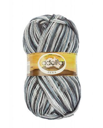 "Пряжа ADELIA ""ZENA"" (100% акрил) 5х100г/308м цв.44 белый-серый-т.серый арт. МГ-61627-1-МГ0683521"