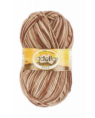 """Пряжа ADELIA """"ZENA"""" (100% акрил) 5х100г/308м цв.90 бежевый-коричневый-красно-коричневый арт. МГ-61628-1-МГ0683522"""