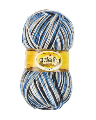 "Пряжа ADELIA ""ZENA"" (100% акрил) 5х100г/308м цв.76 белый,голубой,серо-голубой арт. МГ-61635-1-МГ0683530"