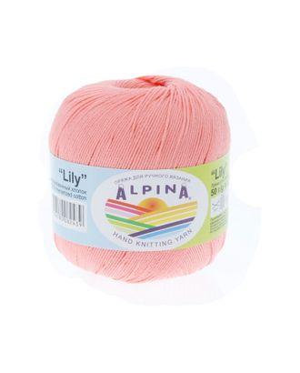 """Пряжа ALPINA """"LILY"""" (100% мерсеризованный хлопок) 10х50 г/175 м цв.015 яр.персиковый арт. МГ-62163-1-МГ0685019"""