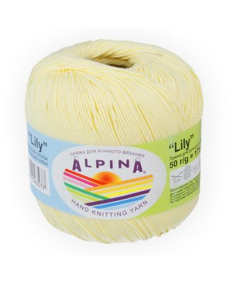 "Пряжа ALPINA ""LILY"" (100% мерсеризованный хлопок) 10х50 г/175 м цв.176 бл.желтый арт. МГ-62164-1-МГ0685020"