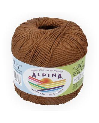 """Пряжа ALPINA """"LILY"""" (100% мерсеризованный хлопок) 10х50 г/175 м цв.037 св.коричневый арт. МГ-62169-1-МГ0685025"""