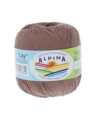 """Пряжа ALPINA """"LILY"""" (100% мерсеризованный хлопок) 10х50 г/175 м цв.223 бл.коричневый арт. МГ-62175-1-МГ0685032"""