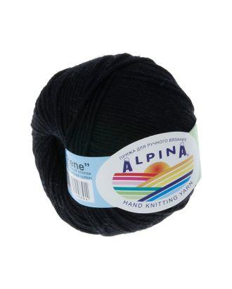 """Пряжа ALPINA """"RENE"""" (100% мерсеризованный хлопок) 10х50 г/105м цв.001 черный арт. МГ-62198-1-МГ0685810"""