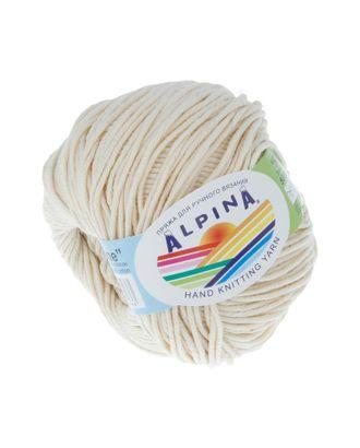 """Пряжа ALPINA """"RENE"""" (100% мерсеризованный хлопок) 10х50 г/105м цв.173 кремовый арт. МГ-62199-1-МГ0685811"""