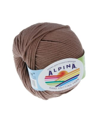 """Пряжа ALPINA """"RENE"""" (100% мерсеризованный хлопок) 10х50 г/105м цв.223 св.коричневый арт. МГ-62206-1-МГ0685818"""