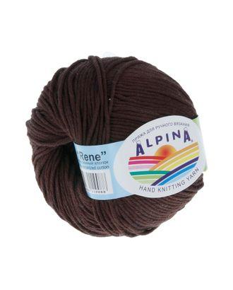 """Пряжа ALPINA """"RENE"""" (100% мерсеризованный хлопок) 10х50 г/105м цв.229 коричневый арт. МГ-62211-1-МГ0685823"""