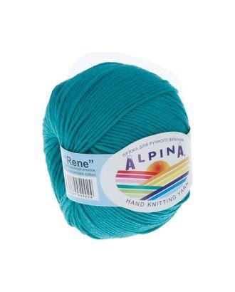 """Пряжа ALPINA """"RENE"""" (100% мерсеризованный хлопок) 10х50 г/105м цв.139 бирюзовый арт. МГ-62231-1-МГ0685847"""