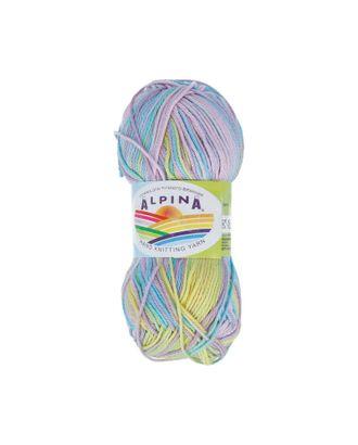"""Пряжа ALPINA """"KATRIN"""" (100% мерсеризованный хлопок) 10х50г/140м цв.6794 желтый-голубой-св.фиолетовый арт. МГ-62283-1-МГ0685905"""