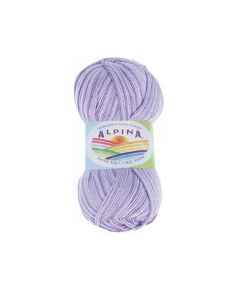 """Пряжа ALPINA """"HOLLY MELANGE"""" (100% мерсеризованный хлопок) 10х50г/200м цв.05 св.фиолетовый/фиолетовый арт. МГ-62318-1-МГ0685943"""