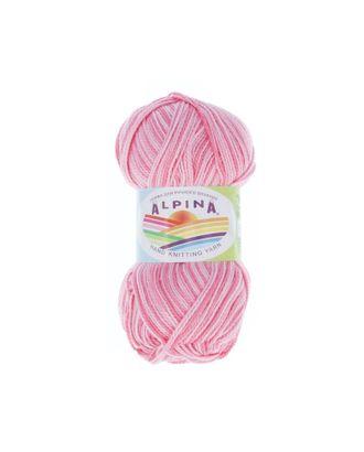 """Пряжа ALPINA """"HOLLY MELANGE"""" (100% мерсеризованный хлопок) 10х50г/200м цв.15 яр.розовый/т.яр.розовый арт. МГ-62326-1-МГ0685952"""