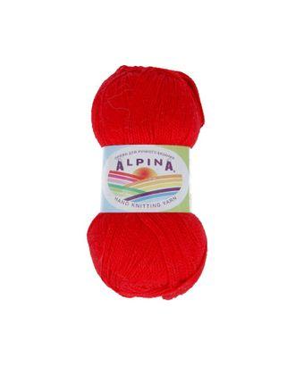 """Пряжа ALPINA """"HOLLY"""" (100% мерсеризованный хлопок) 10х50г/200м цв.007 красный арт. МГ-62328-1-МГ0685954"""